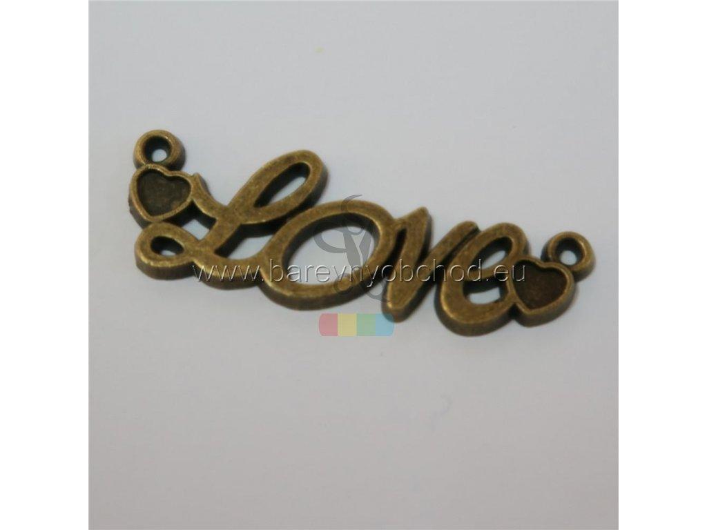 nápis k našití LOVE