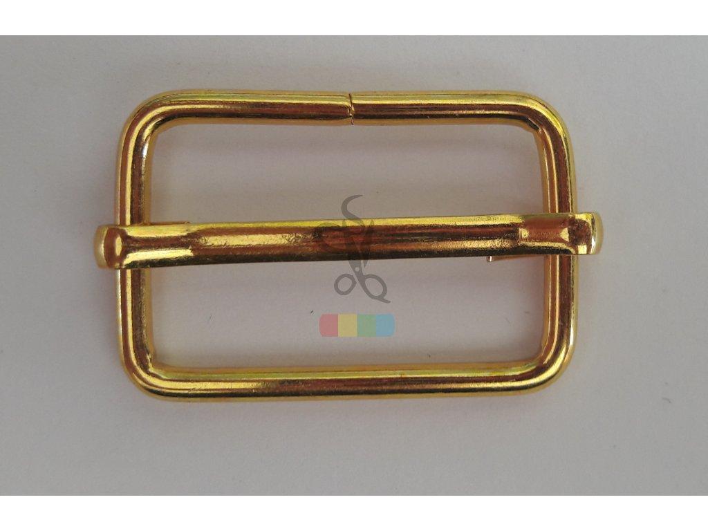 zkracovač kovový na popruhy 30 x 14 mm - zlatý