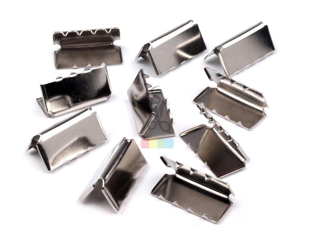 zakončení kovové 20 mm, barva stříbrná