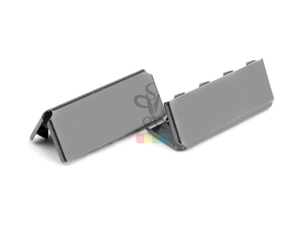 zakončení kovové 25 mm, černý nikl