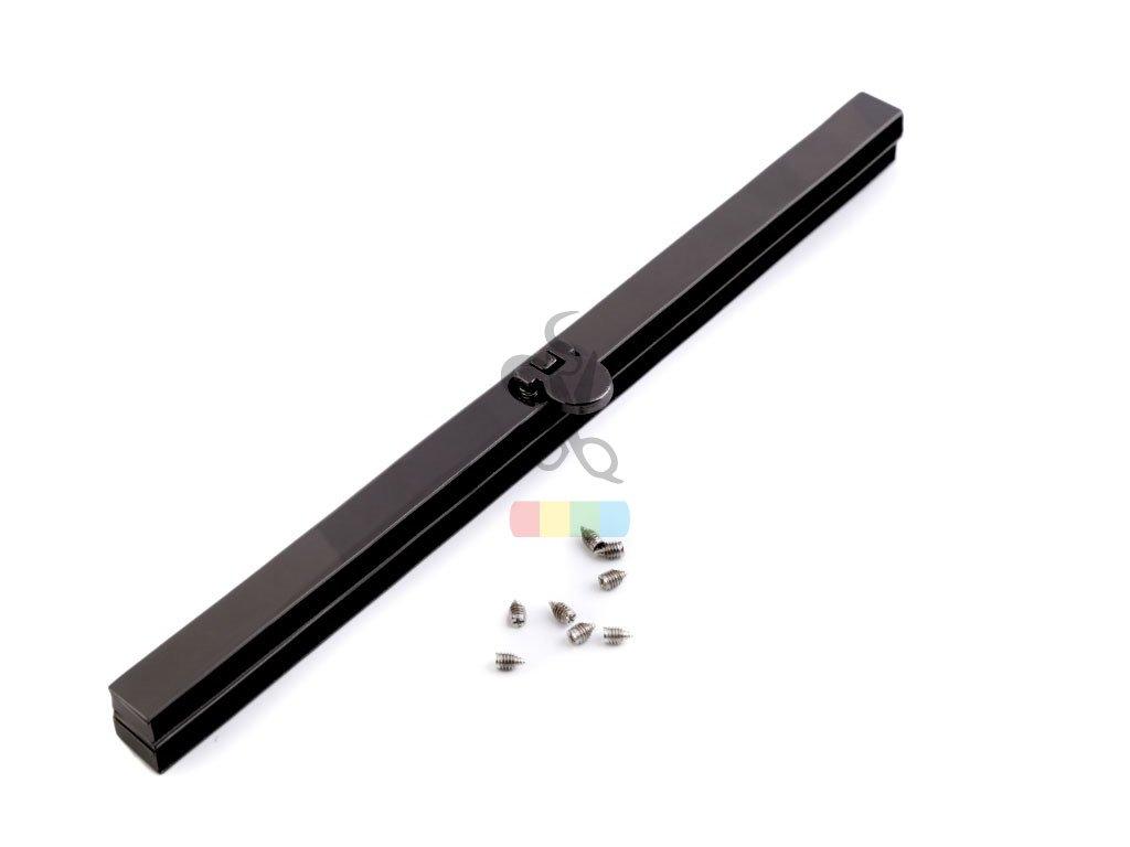 rámeček na výrobu kabelky 1 x 19 cm vkládací - černý nikl