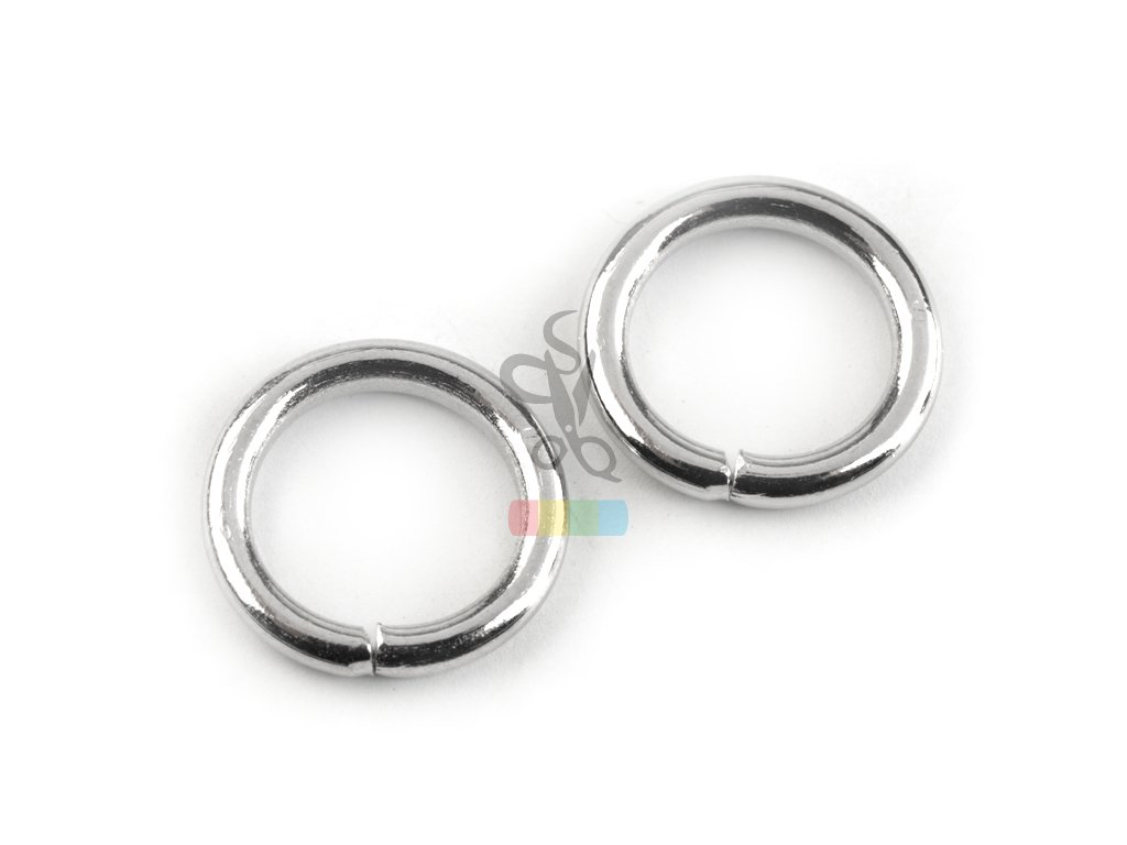 kroužek 12 mm - stříbrný