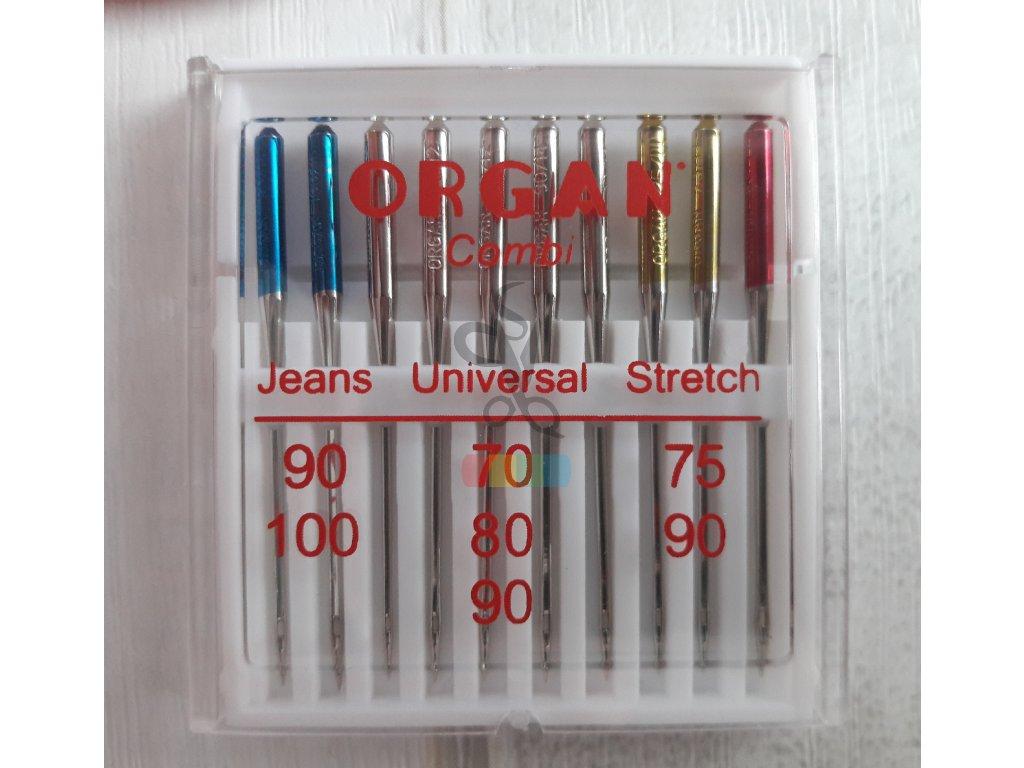 Jehly strojové ORGAN Combi - jeans, universal, stretch