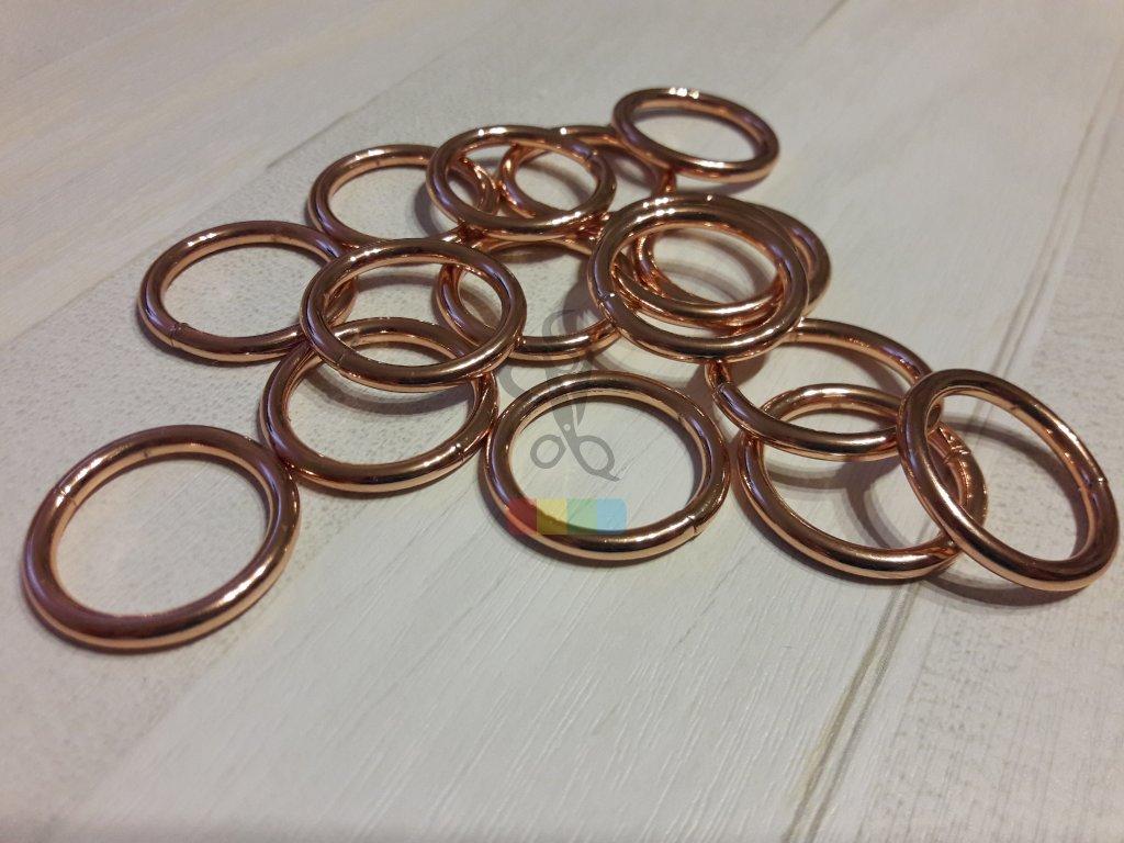 růžové zlato - kroužek 20 mm
