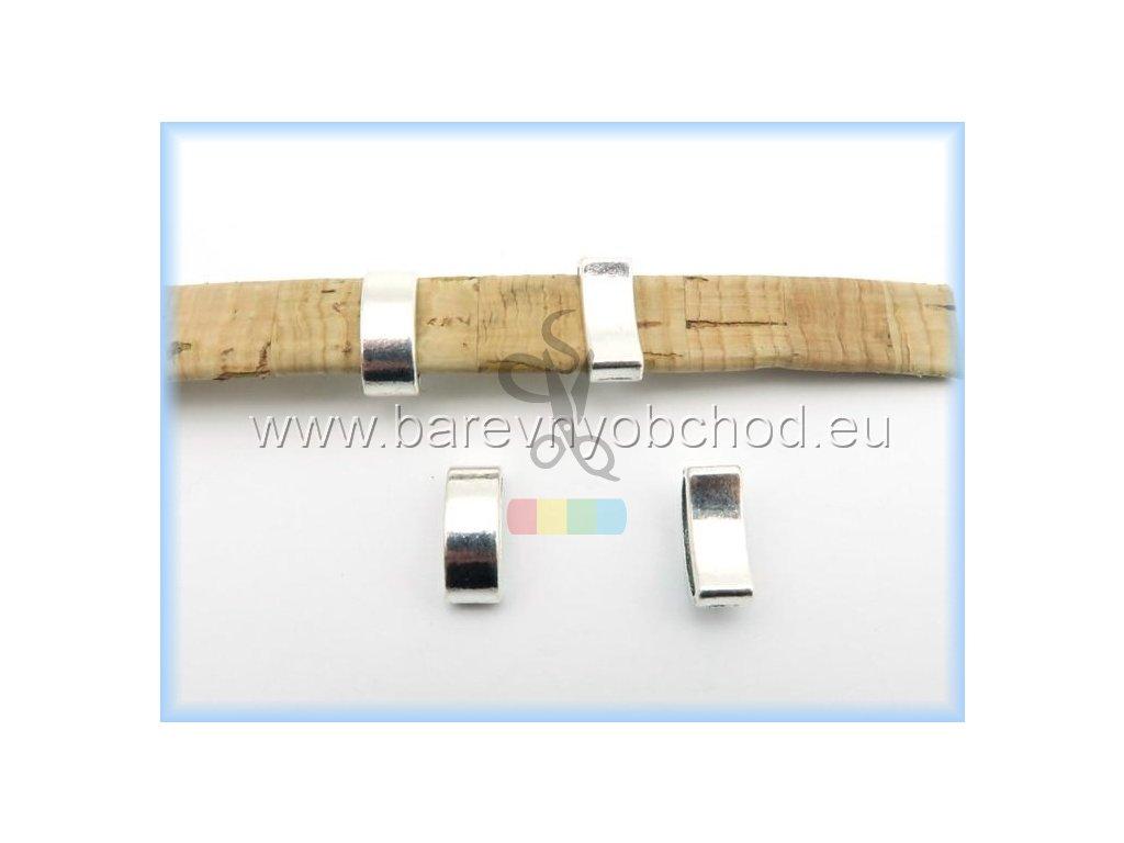 návlek pro plochý pásek 10 mm - stříbrný