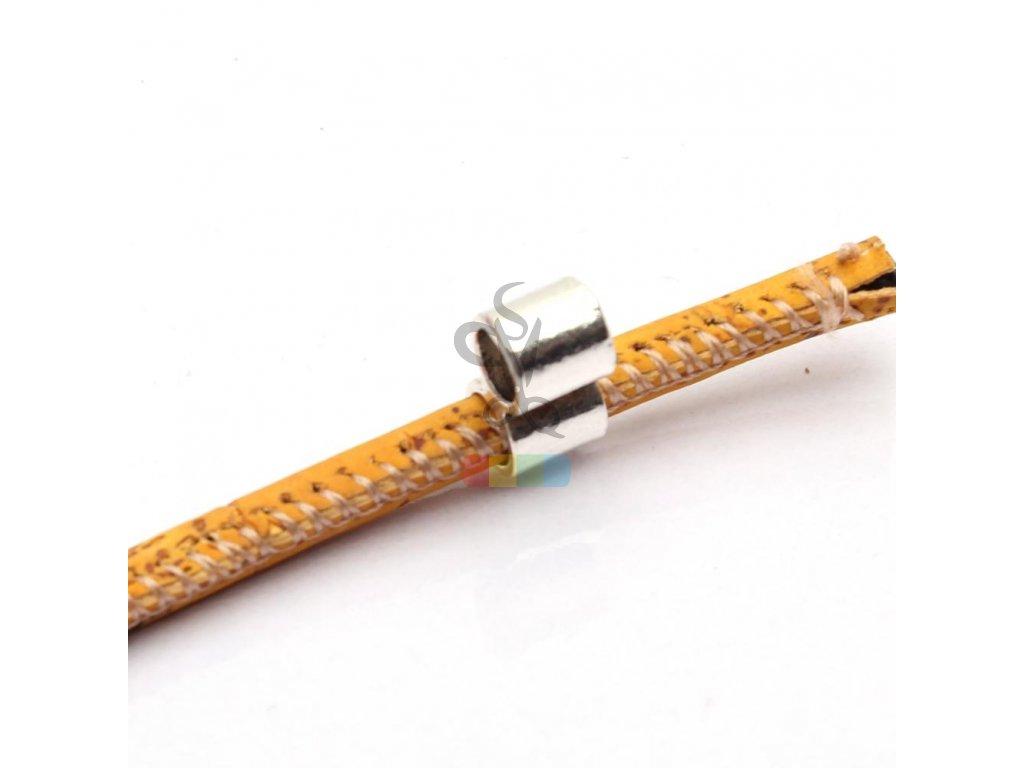 korková šňůra kulatá, průměr 5 mm - žlutohnědá