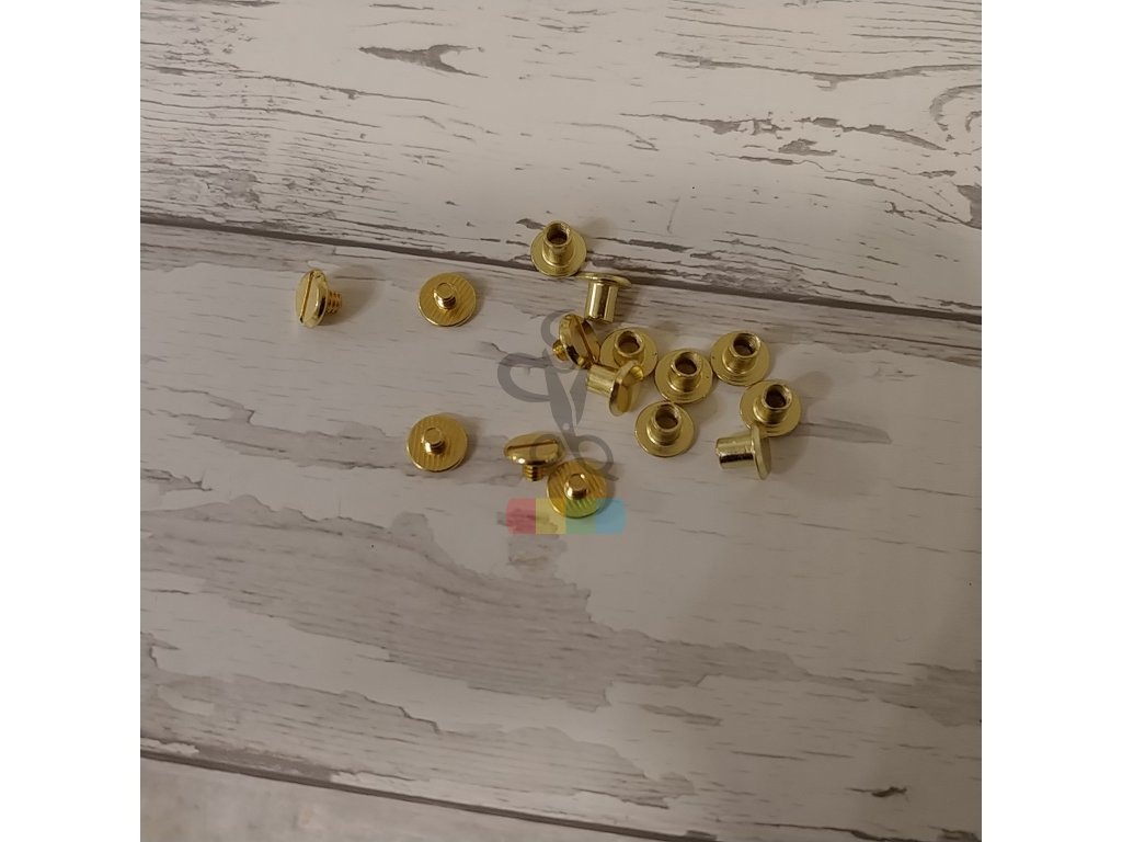 opaskový šroubek 4 mm - zlatý
