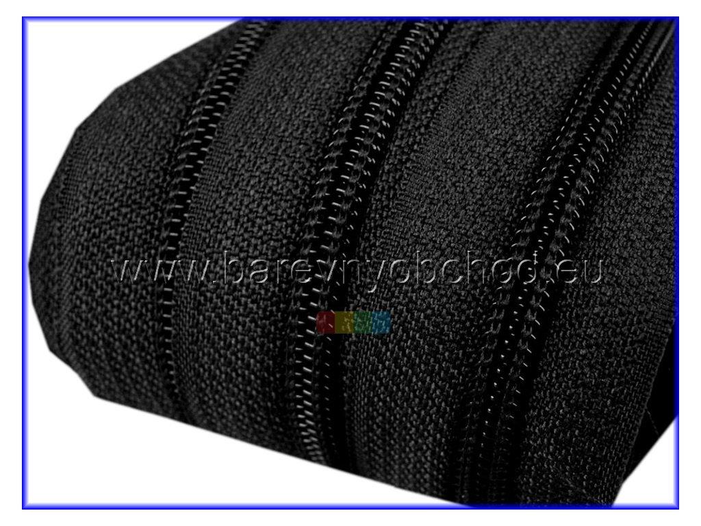 Zip spirálový 5 mm metráž  - různé barvy - typ POL