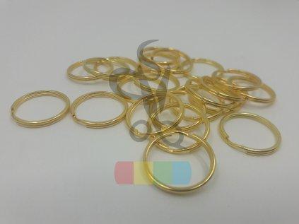 kroužek klíčový 16 mm - tmavé zlato