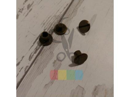 opaskový šroubek 5 mm - staromosaz