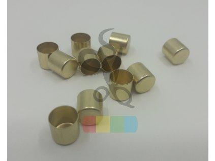 koncovka na šňůru prům. 10 mm - zlatá