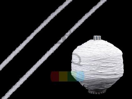 pruženka měkká kulatá 2 mm - bílá a černá