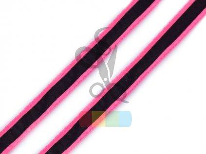 Oděvní šnůra s luminous efektem 8 mm - různé barvy