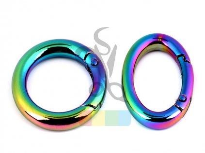 duhový kroužek na klíče/kabelky  - průvlek 25 mm
