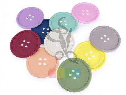 silikonová podložka - knoflík - více barev