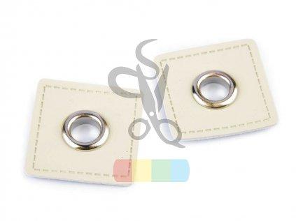 průchodka kožená 8 mm  - více barev