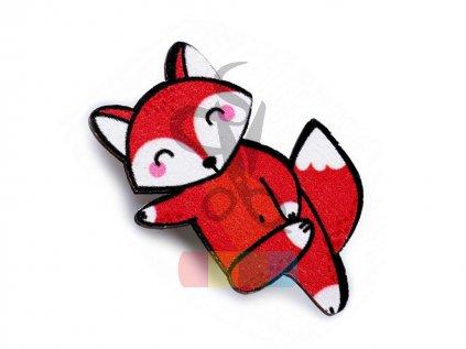 Dřevěná brož liška