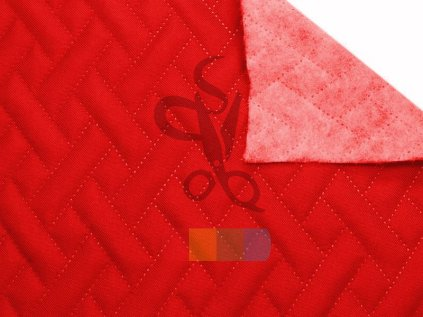 tkanina oxford pikowana wodoodporna premium 620 czerwona 25 mb