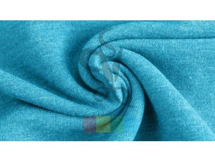 teplákovina jednobarevná - středně modrá - jemný melír