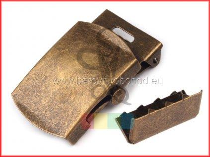 spona kovová na opasek 30mm - mosaz