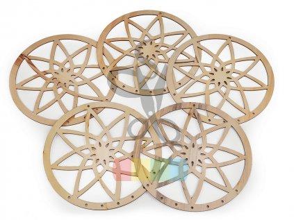 dřevěná mandala na lapače snů 25 cm