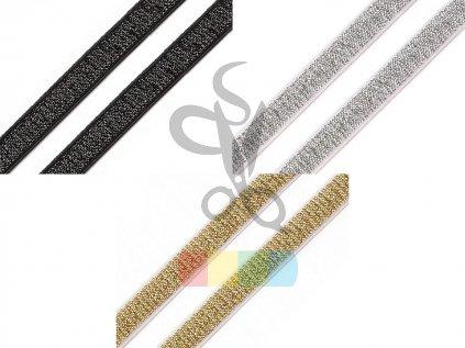 pruženka brokátová 10 mm - více barev
