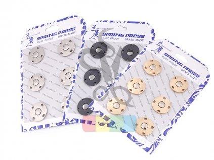 designové patentky/druky 20 mm - více barev