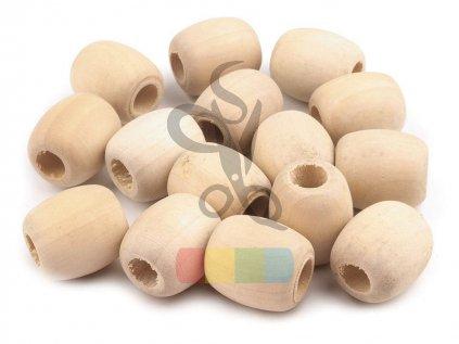 dřevěné korálky nelakované oválné