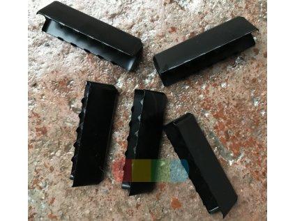 zakončení kovové 40 mm, barva černá