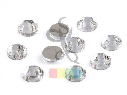 broušené kamínky našívací - 8 mm