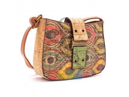 """kabelka korková - vzor barevné """"oči"""""""