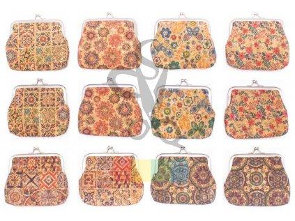 taštička/mincovka obdélníková - různé vzory