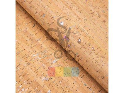 korek - korková látka - přírodní s duhovými kousky