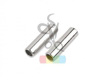 koncovka kovová  na šňůry pr.5 mm - stříbrná