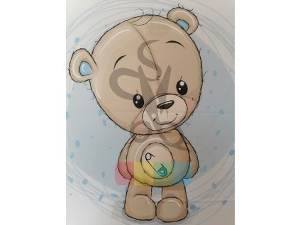bavlna - panel - 75 x 100 cm - medvědí chlapeček