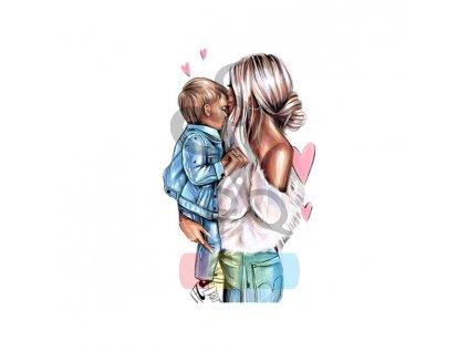 urocza mama i syn bialy