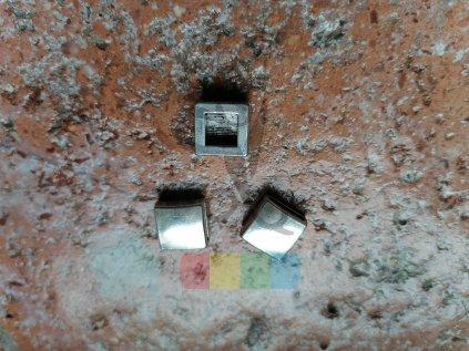 čtvereček pro plochý pásek 10 mm - stříbrný