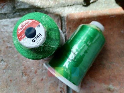 COFEE - polyesterová - zelená - 5000 m - G988