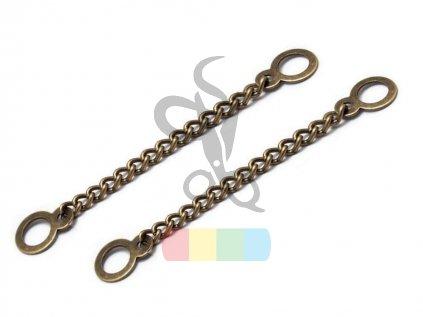 kovový řetízek/poutko na bundy a kabáty - mosazné