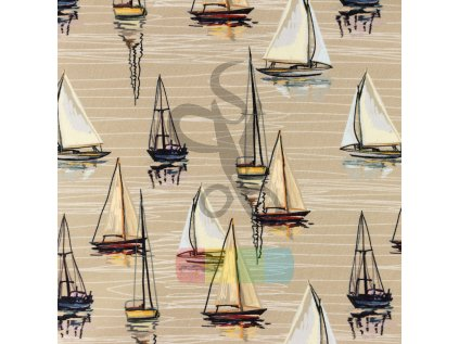 [S1224R 185105] [S1224R] Jersey Digital Printed Mix Asen Snoozy (Sailboat)