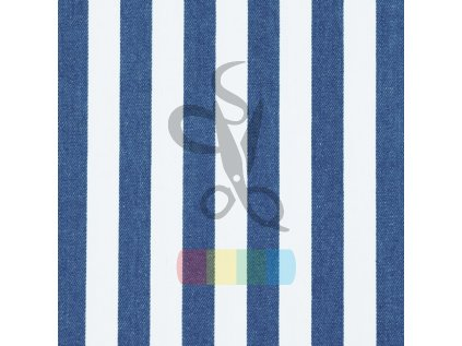 [S133R 61285] [S133R] Jeans Stripe (Dark Blue)
