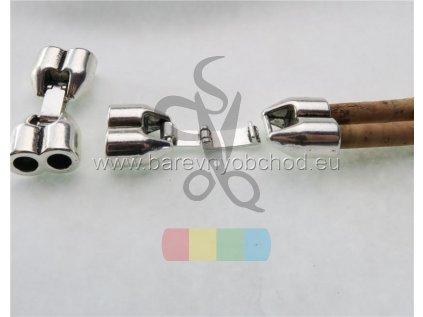 dvojité zapínání pro kulatou šňůru 5 mm