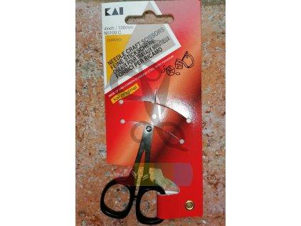 Nůžky párací KAI délka 10 cm - N5100 C - zahnuté