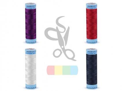 bavlněné nitě 100 m - Triana amann - různé barvy
