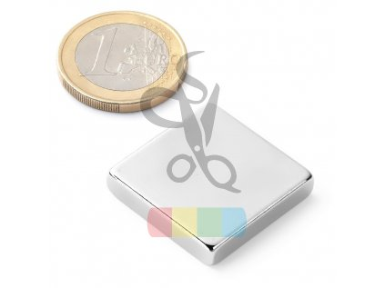 magnet neodymový čtverec 25x25x5 mm