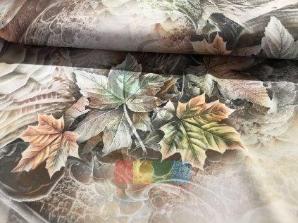 hedvábí - podzimní listí