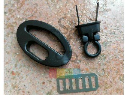 zapínání na kabelku ovál 40x25 mm - černé