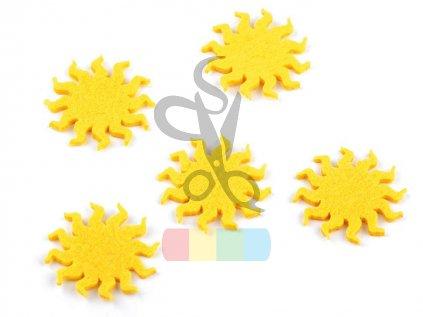 filcové sluníčko pr. 40 mm - 5 ks