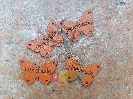 nášivka z ekokůže - motýlek Handmade