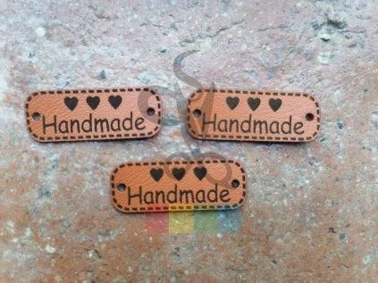 nášivka z ekokůže - Handmade - 3 cm